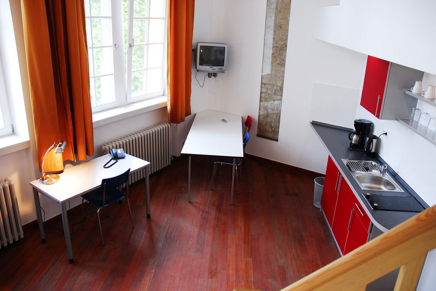 One of the apartments on campus: if you book on-campus accommodation, you will share an apartment like this with 2 - 4 other Berlin College students